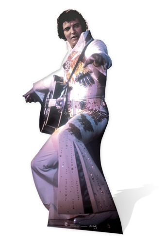 Elvis in White Jump Suit - Cardboard Cutout