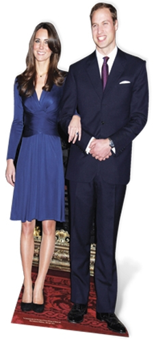 Prince William and Miss Middleton - Cardboard Cutout