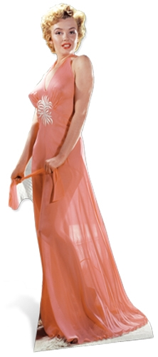 Marilyn Monroe 'Peach Night-Gown' Cardboard Cutout