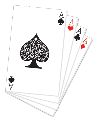 Hand of Playing Cards Vegas and Casino Style - Cardboard Cutout