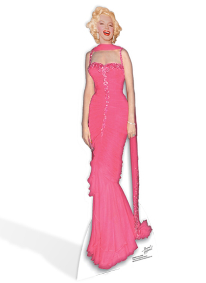Marilyn Monroe 'Pink Evening Gown' Cardboard Cutout