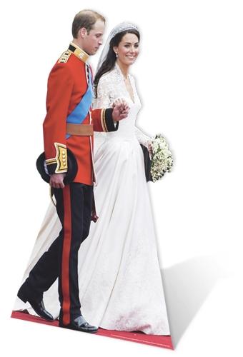 William and Kate Wedding - Cardboard Cutout