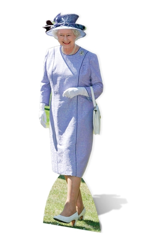 Queen Elizabeth II- Lilac Dress Royal Family Cutout