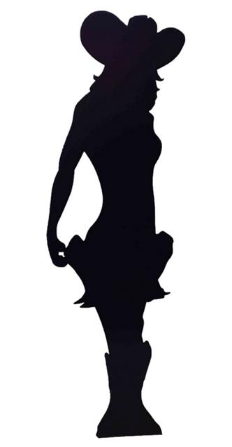 Cowgirl (Silhouette) Black Lifesize Cardboard Cutout