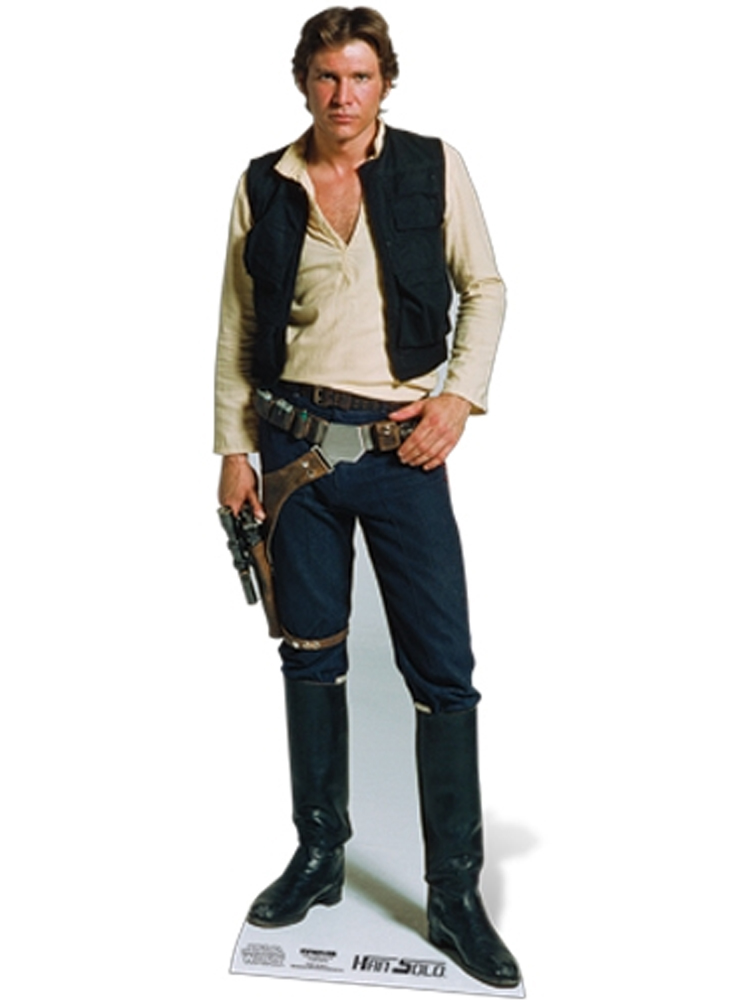 Official Han Solo Star Wars Harrison Ford Lifesize Cardboard Cutout