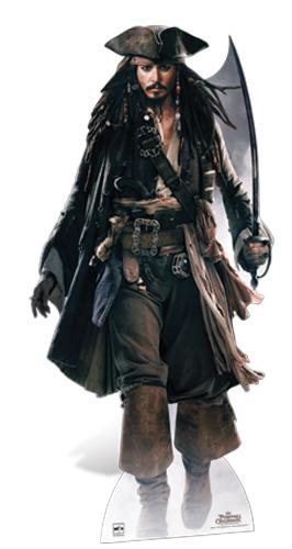 Captain Jack Sparrow (Sword) Pirate Johnny Depp Cutout