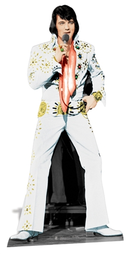 Elvis Presley Vegas White Suit - Cardboard Cutout