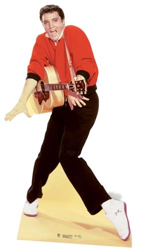 Elvis Presley Red Jacket & Guitar - Cardboard Cutout