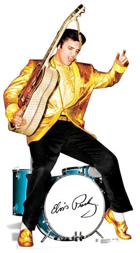 Elvis Presley Gold & Drums - Cardboard Cutout
