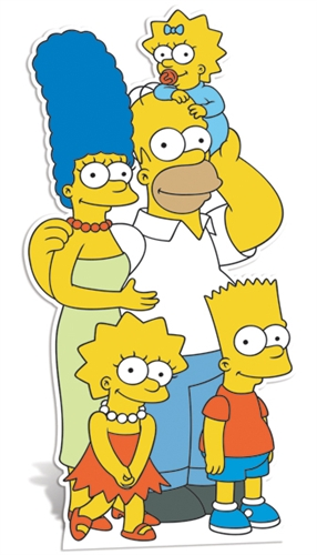 The Simpsons Family - Cardboard Cutout