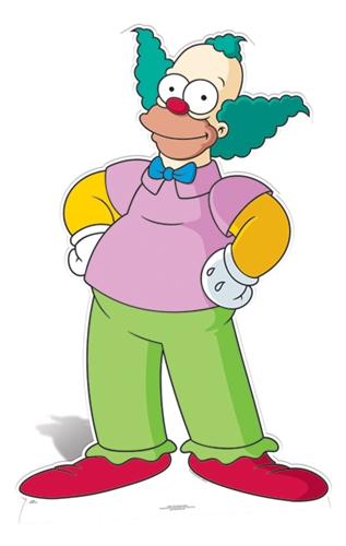 Krusty the Clown - Cardboard Cutout