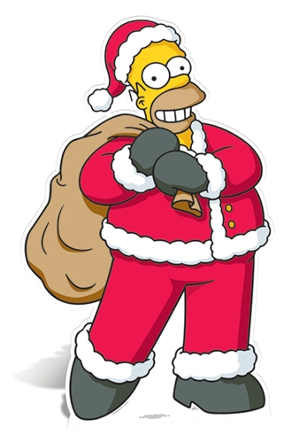 Homer 'Christmas' - Cardboard Cutout