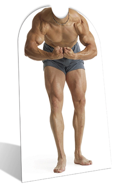 Muscle Man 'Stand-In' - Cardboard Cutout