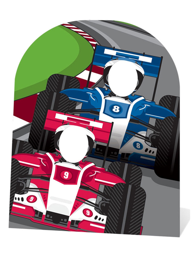 Racing Cars Stand-In (child-sized) - Cardboard Cutout