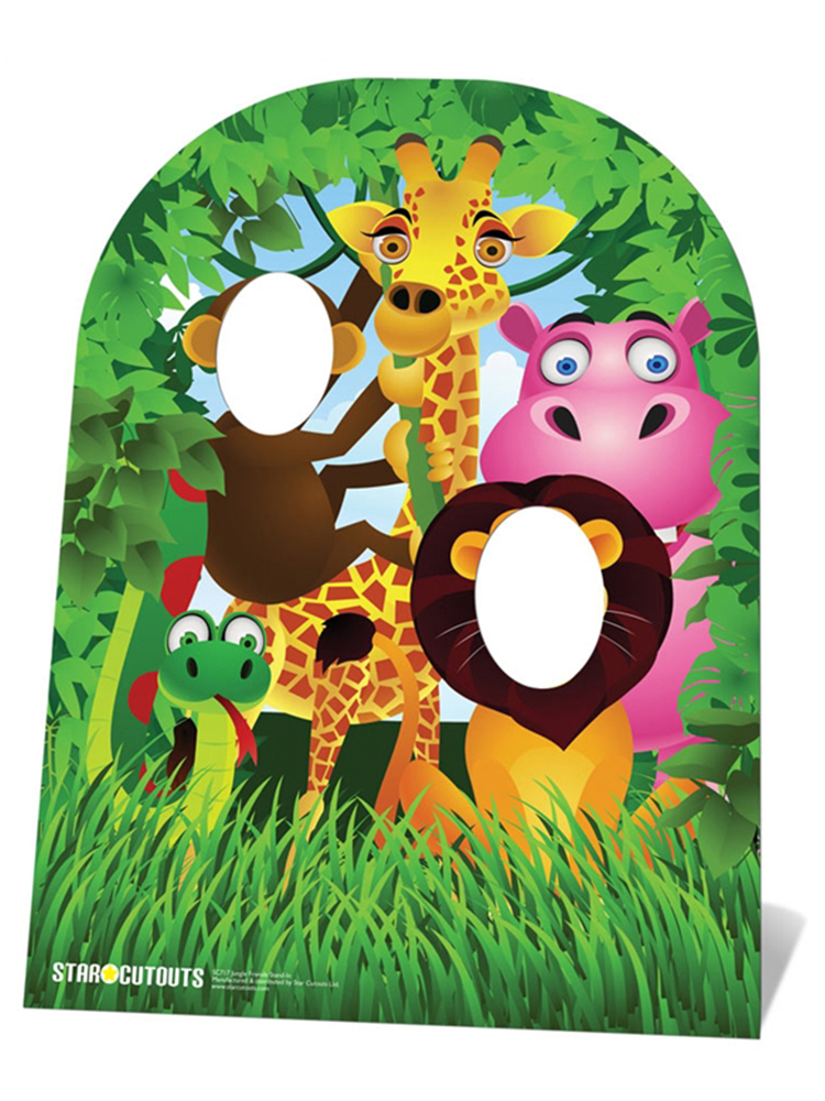 Jungle Friends Stand-In (Child-sized) - Cardboard Cutout