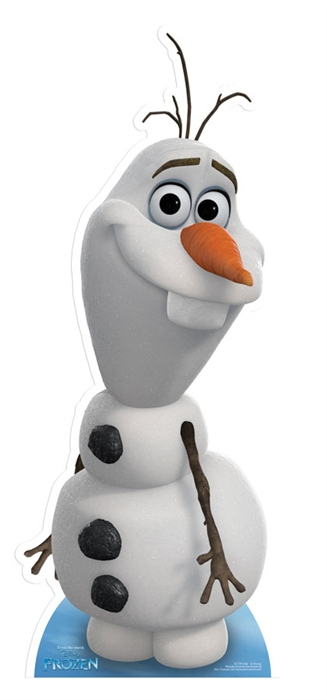Olaf (Frozen) Star-Mini Cardboard Cutout