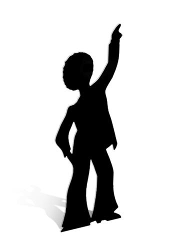 Disco Dancer - Male (Silhouette) Black Cardboard Cutout