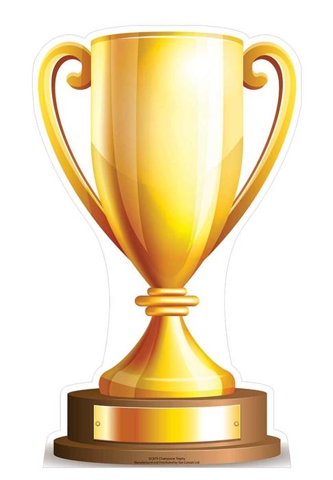 Small Champions Trophy (Star Mini) - Cardboard Cutout