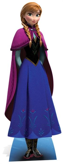 Anna (Frozen) Star-Mini - Cardboard Cutout