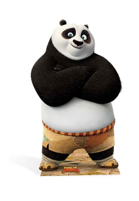 Po (Kung Fu Panda) Star-Mini - Cardboard Cutout