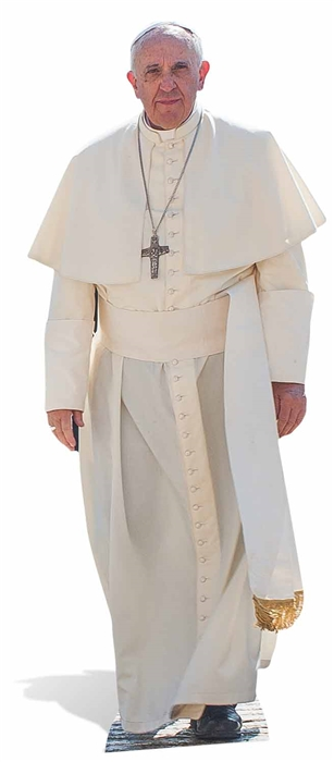 Pope Francis Life-sized cardboard cutout