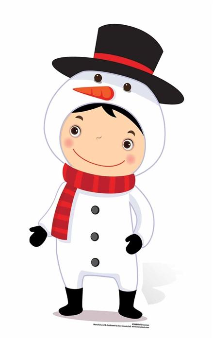 Mini Christmas Snowman - Cardboard Cutout