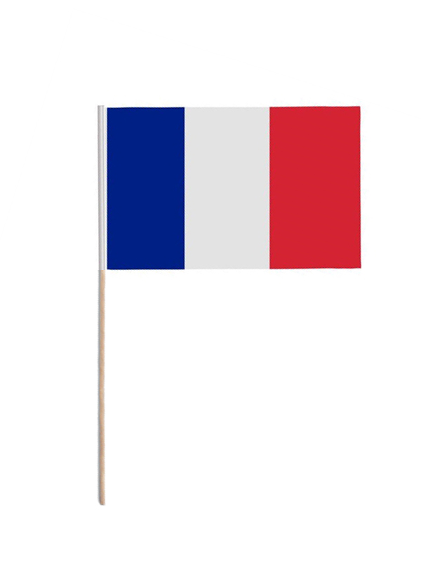 France Hand Held Paper Flag