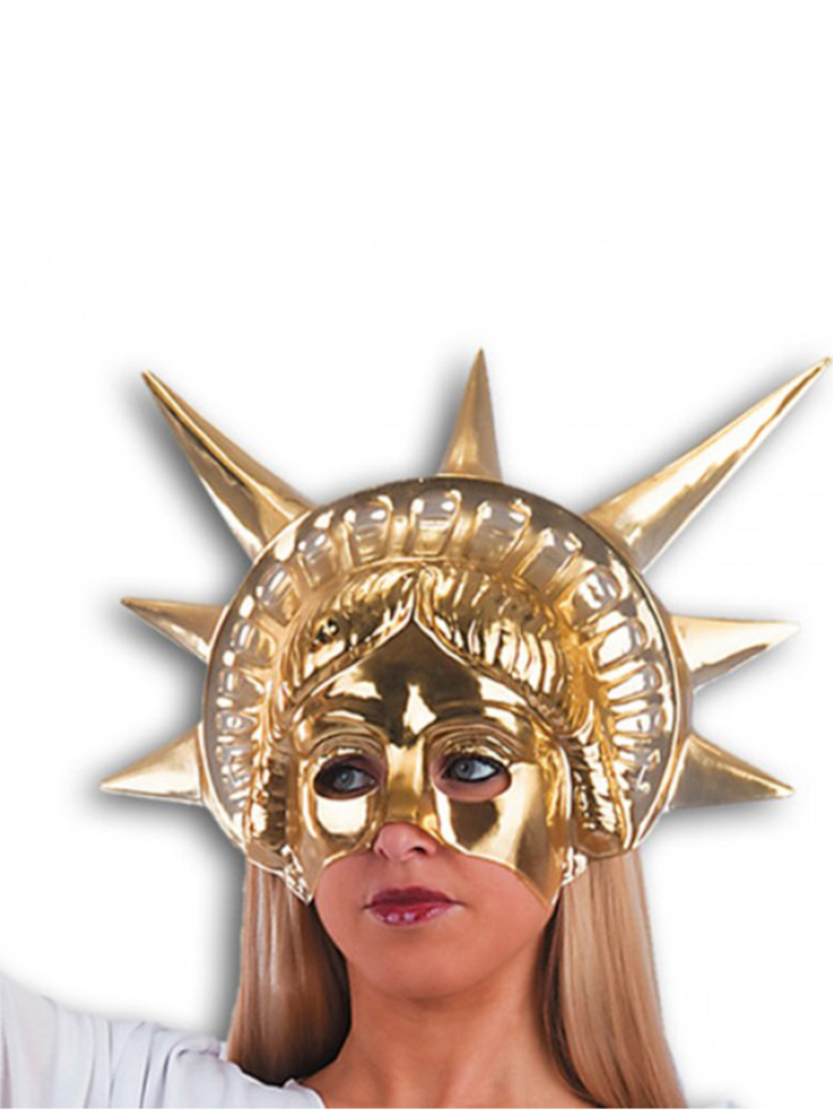 Statue of Liberty Gold Face Mask
