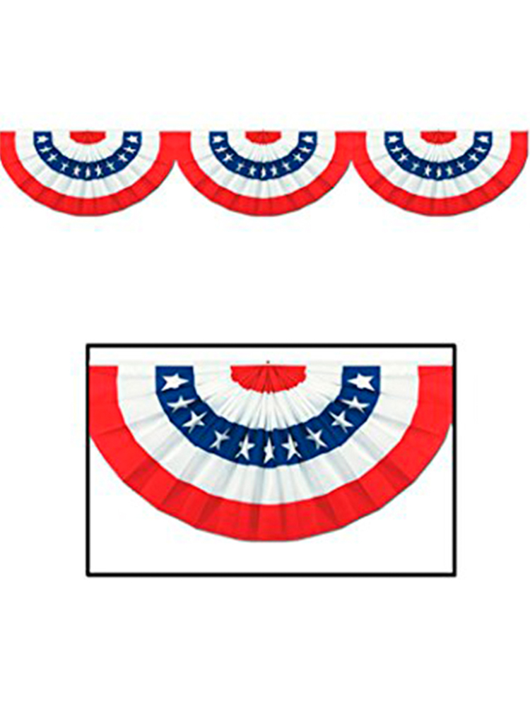 USA Patriotic Jointed Cardboard Bunting