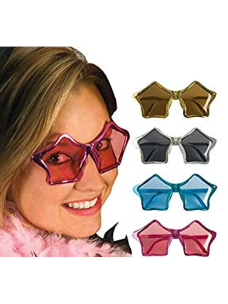 Star Shaped Glasses - Assorted Colours