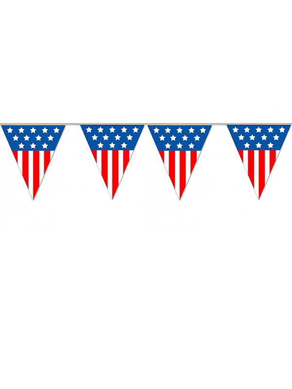 USA Triangle Plastic Bunting