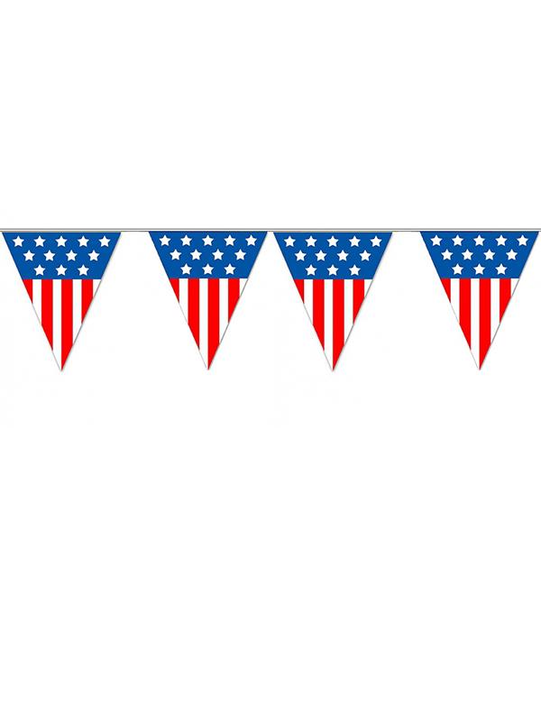 USA Triangle Plastic Bunting