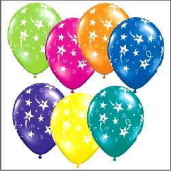 "Balloons Shooting Stars Assorted Colours 12"" Bag Of 25"