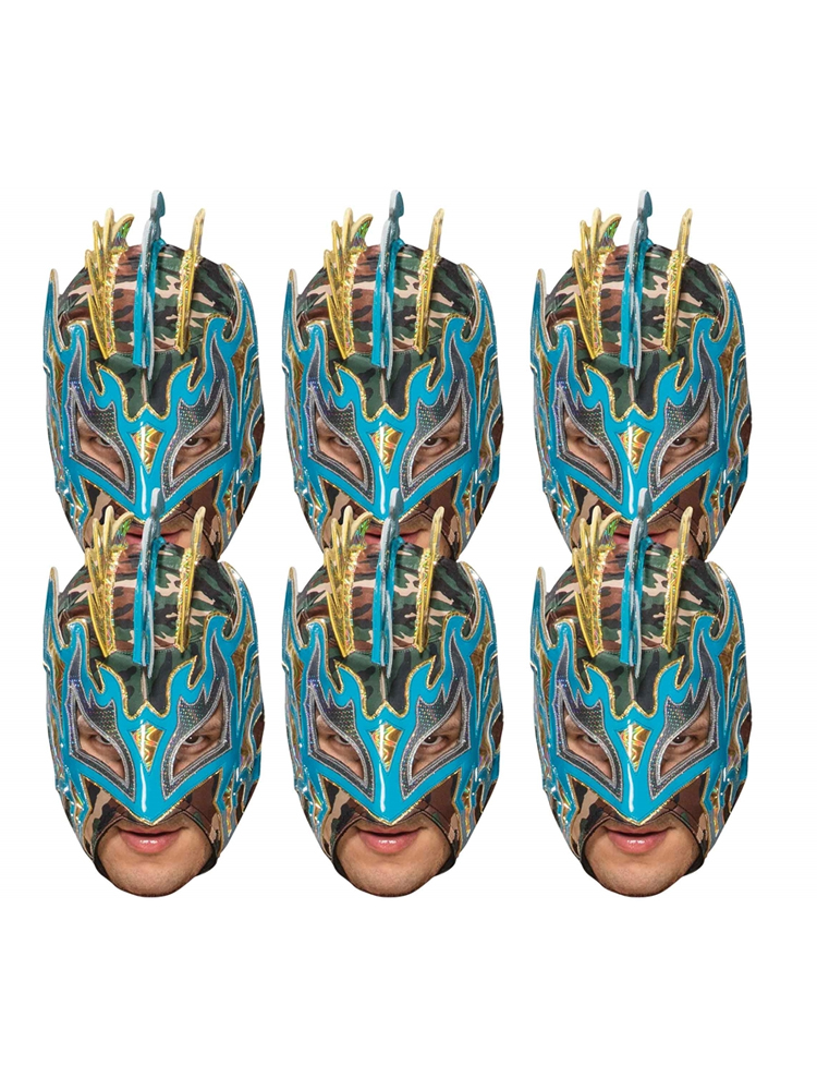 Kalisto WWE Masks 6 Pack of Wrestling Masks Great fun for family, friends and fans.