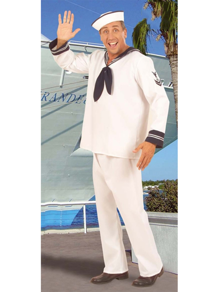 Sailor Costume Heavy Fab White (Coat Pants Hat)