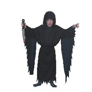 Screamer Black Robe Costume