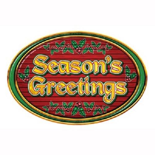 "Season's Greetings Sign 12"" x 18"""