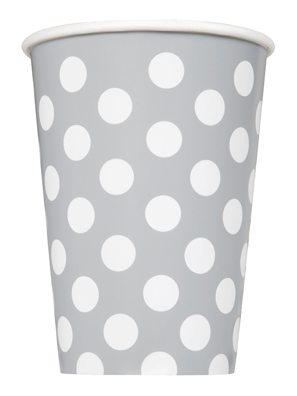 Silver Dot Cups 9""
