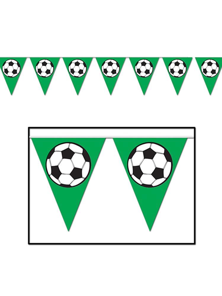 """Foot Ball Pennant Banner 11"""" x 12'"""