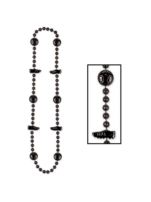 "Football Beads 36"" Black"