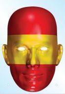 Spain Flag Mask