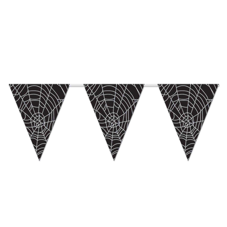 "Spider Web Pennant Banner 11"" x 12'"