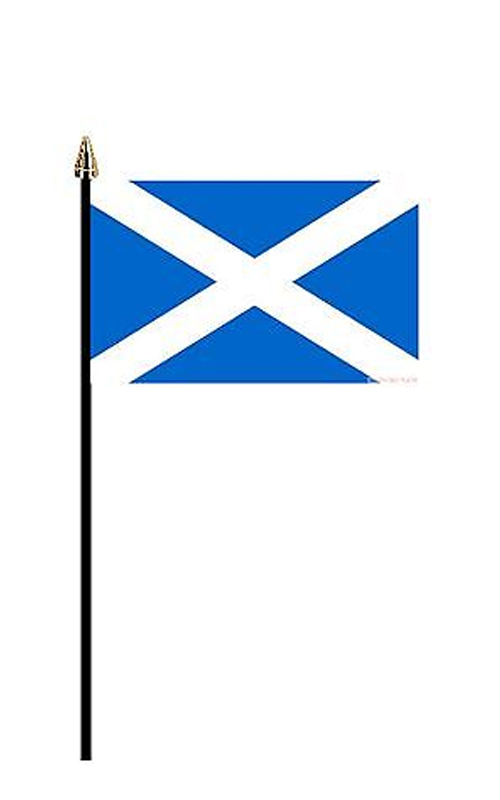 St Andrew's Hand Held Flag
