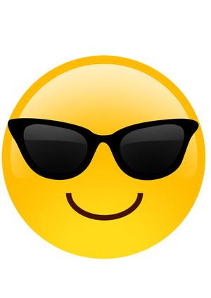 Smiley Sunglass Emoji Mask