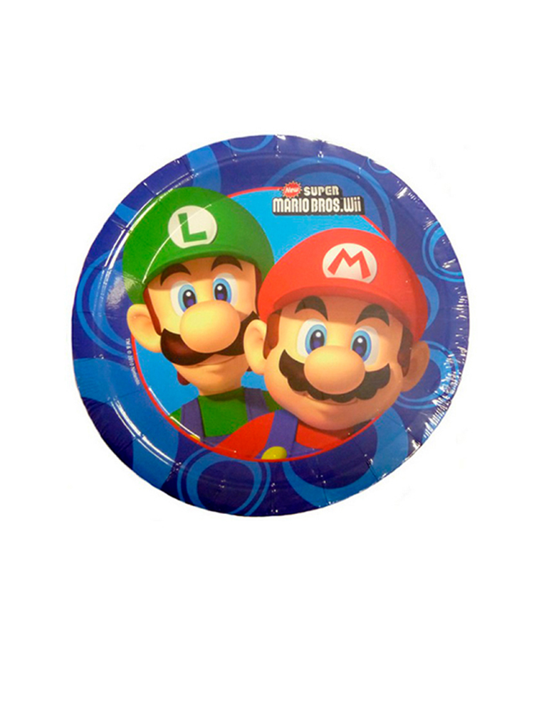 Super Mario Brothers Paper Plates