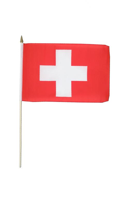 Switzerland Hand Waving Flag