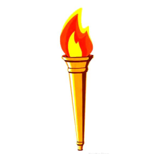 """Torch Cutout 24"""" Printed on both sides"""