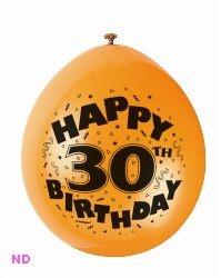 "Balloons HAPPY 30th BIRTHDAY 9"" Latex Balloons (10)"
