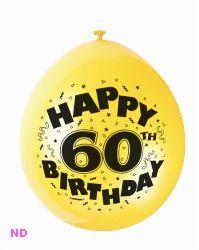 "Balloons HAPPY 60th BIRTHDAY  9"" Latex Balloons (10)"