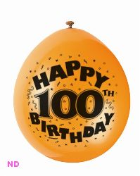 Happy 100th Birthday 9 Latex Balloons 10